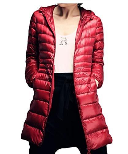 Gocgt Coats Puffer Down with Jackets 5 Hood Women's Length Long rrf6SwY