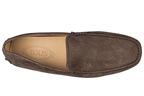Tod's mocassini uomo in pelle originale pantofola new gommini 122 marrone