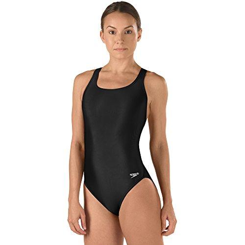 Speedo Big Girls Pro LT Youth Superpro Swimsuit, Black, 20