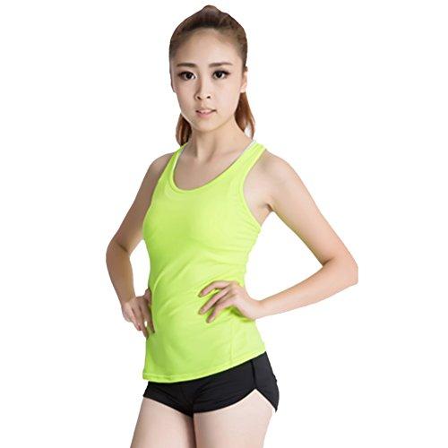 BOBORA Alta Elasticidad Confort Ropa Deportiva Mujer Profession Para Trotar Fitness Sin Mangas Yoga Race Verde