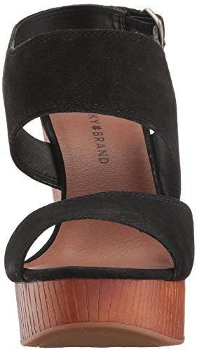Lucky Brand Women's Lk-Lattela Wedge Sandal, Blue Black