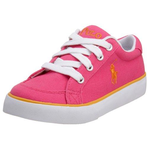 POLO by Ralph Lauren Toddler/Little Kid Brisbane Court Shoe,Andover Pink/Orange,3 M US Little Kid