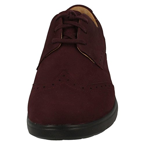 Clarks Un Hinton - Aubergine Leather 5.5 UK Aw3vZsgR