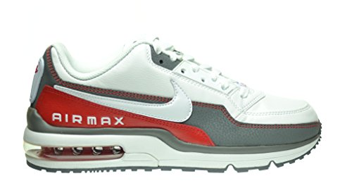 Nike Air Max LTD 3 Men's Shoes White/White-Cool Grey-Sport Red 687977-166 (9 D(M) US)