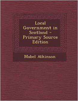 Book Local Government in Scotland