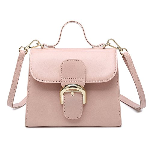 Temperamento De Bolsa Moda De Bolso Moda Pink Marrón Dama Hombro De Nueva Sencillo GWQGZ q50wtxvx