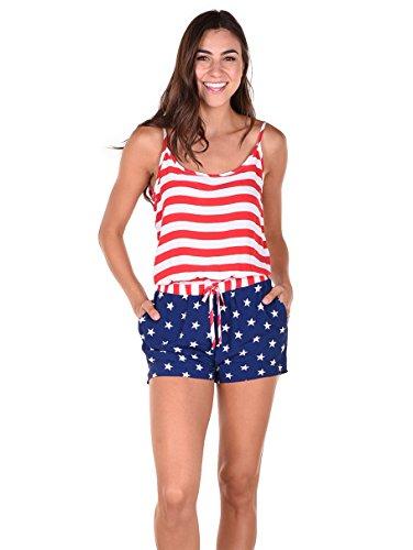 Tipsy Elves Women's American Flag Romper: Medium]()