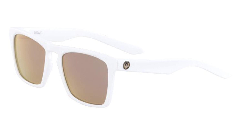 771f424adb Sunglasses DRAGON DR DRAC ION 102 MATTE WHITE WITH ROSE GOLD LENS   Amazon.co.uk  Clothing