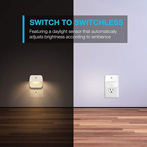 Vont LED Night Light Plug in, Super Smart Dusk to Dawn Sensor, Automatic Night Lights Suitable for Bedroom, Bathroom, Toilet,Stairs,Kitchen,Hallway, For Kids,Adults,Compact Nightlight, (Warm White, 4)