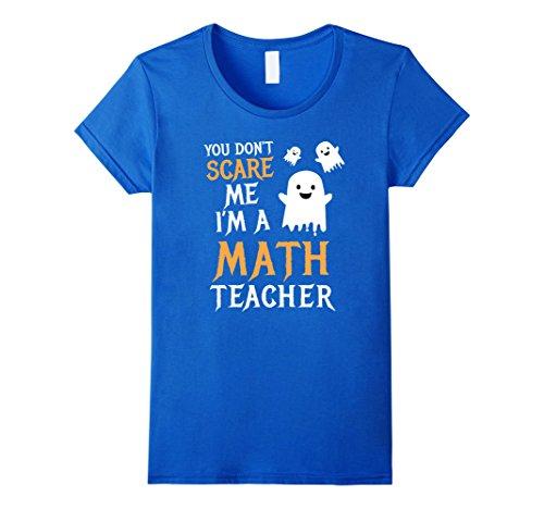 Womens Math Teachers Halloween Shirt Algebra Geometry Calculus Gift Medium Royal Blue