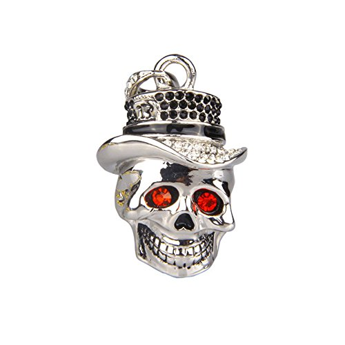Price comparison product image Funny Necklace Queen Skeleton Head Shape 8GB USB Flash Drive 8G USB Flash Drive Pen Drive Memory Stick USB Stick Cartoon