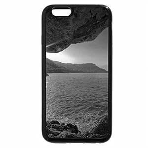 iPhone 6S Case, iPhone 6 Case (Black & White) - glorious coastal cave
