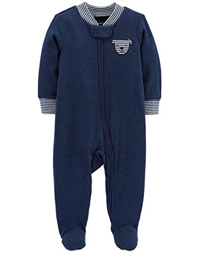 (Carter's Baby Boys Cotton Footed Sleep N Play (6 Months, Navy Puppy))