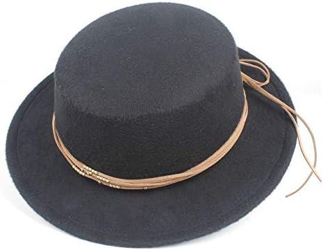 Winter Wool  Women Men Flat Fedora Hat Gentleman Top Cloche Boater Jazz Cap