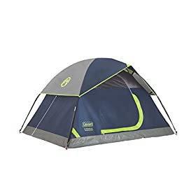 Coleman Sundome 2 Person Tent 137 Dome tent with spacious interior allows you to move comfortably Easy setup in only 10 minutes WeatherTec system with patented welded floors and inverted seams to keep you dry