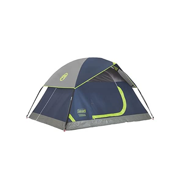 Coleman Sundome 2 Person Tent 1 Dome tent with spacious interior allows you to move comfortably Easy setup in only 10 minutes WeatherTec system with patented welded floors and inverted seams to keep you dry
