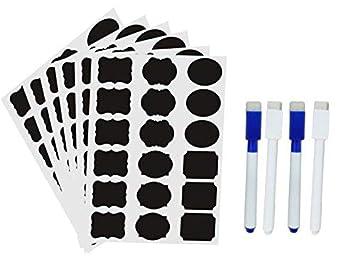 Onebycitess - Etiquetas adhesivas para pizarras (144 ...