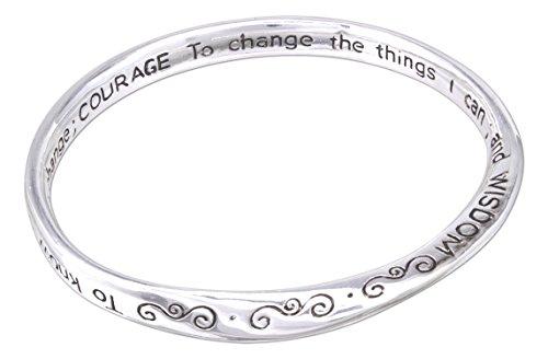 Dicksons InspiRing Silver Plated Serenity Prayer Engraved Mobius Bracelet