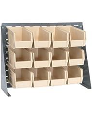 27 L X 8 W X 21 H Bench Rack With 12 10 7 8 L X 5 1 2 W X 5 H Ivory Bins 1 Rack