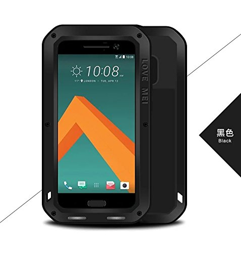 super popular dd443 1ab52 Love MEI HTC 10 Case, Shockproof Waterproof Dust/Dirt / Snow Proof Aluminum  Metal Case Gorilla Glass Heavy Duty Protection Case Cover HTC 10 M10 (10 ...
