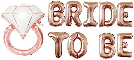 Bridal Shower Decorations Bachelorette Party Supply Rose Gold BRIDE TO BE Foil Mylar balloons Kit