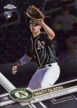 Olson Card (2017 Topps Chrome Baseball #98 Matt Olson Rookie Card)
