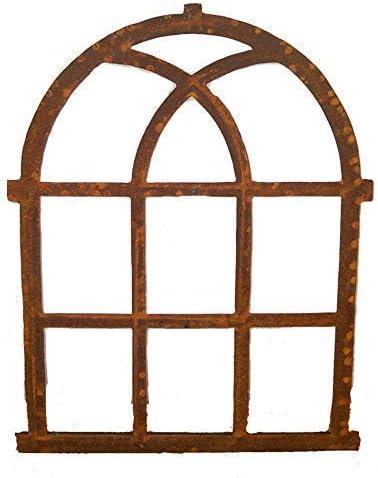 Nostalgia window frame 100x59cm Rusty Iron Barn Window