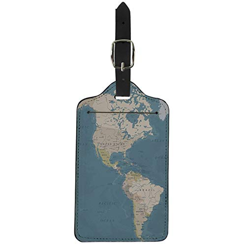 Travel Accessories Luggage Tags Travel | World Map Suitcase Id Address Holder Baggage | Boarding Portable ()