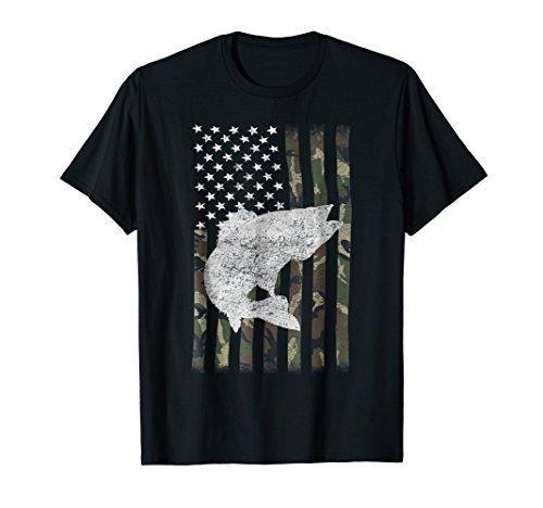 Camouflage Flag Walleye Fishing Angler ()