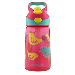 Contigo Autospout Striker Kids Water Bottle, 14-Ounce, Cherry Blossom by Contigo