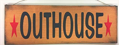 - Outhouse with Barn Stars Country Bath Home Decor Bathroom Accessories Wooden Signs