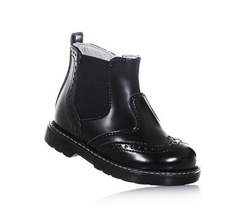 NERO GIARDINI - Schwarze Stiefelette aus Leder, made in Italy, seitlich ein Reißverschluss, Jungen
