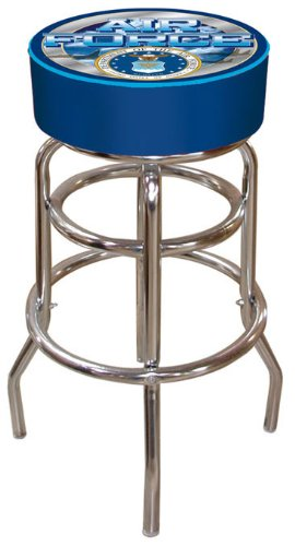 United States Air Force Padded Swivel Bar Stool