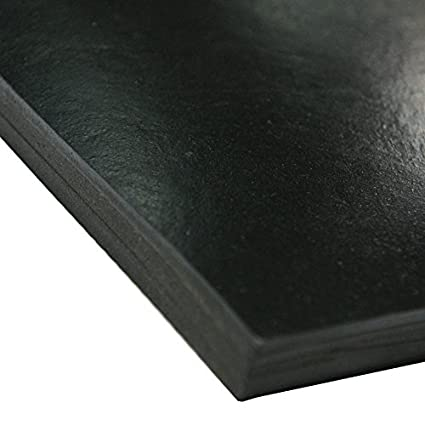 Smooth Finish 36 Length 0.250 Thickness 24 Width 36 Length Rubber-Call Neoprene Sheet 50A Durometer Black Industrial 30-005-250-024-036 24 Width No Backing 0.250 Thickness