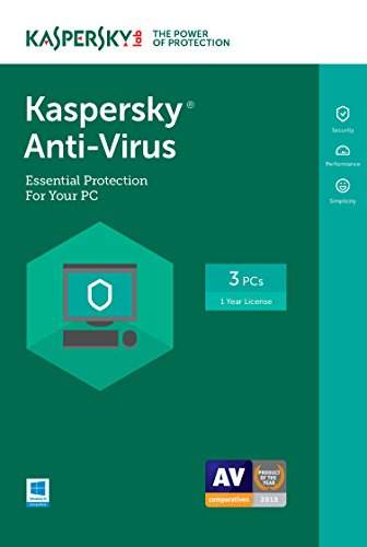 Kaspersky Anti-Virus 2017 | 3 Device | 1 Year | Download [Online Code]