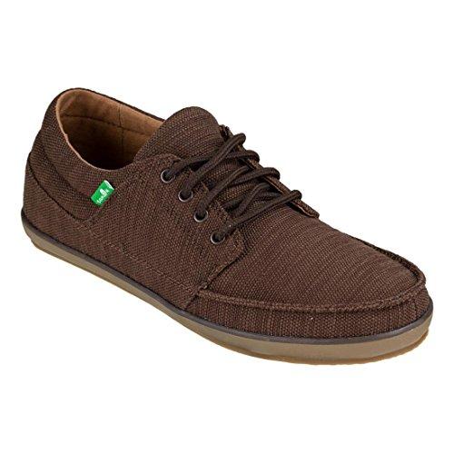 Sanuk Mens Die Vintage Slub Sneaker Bruin