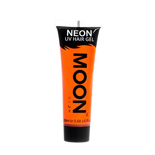 Moon Glow - Blacklight Neon UV Hair Gel - 0.67oz Intense Ora