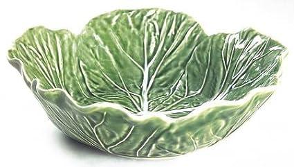 Bordallo Pinheiro Cabbage-Green 9\u0026quot; Round Vegetable Bowl Fine China Dinnerware  sc 1 st  Amazon.com & Amazon.com | Bordallo Pinheiro Cabbage-Green 9\