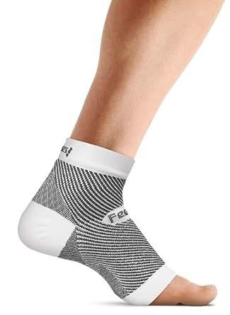 Feetures! Plantar Facsiitis Sleeve - One Sleeve White, Medium