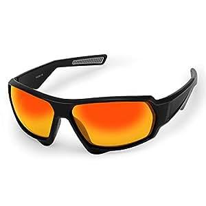CHEREEKI Gafas de Sol Deportivas Polarizadas con UV400 Anti-Reflexivo TR90