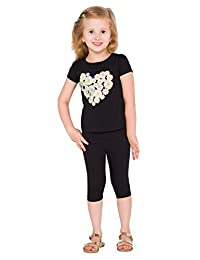 hi!mom Cropped Children 3/4 Cotton Leggings Basic Plain Kids Capri Pants Age 2 - 13