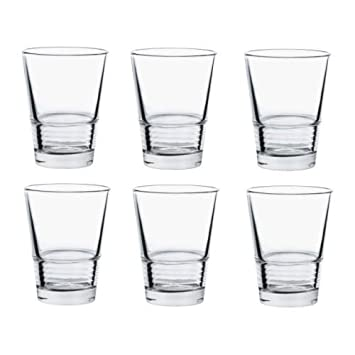 Ikea Gläser ikea vänlig glas klarglas 6 stück 33 cl amazon de küche haushalt