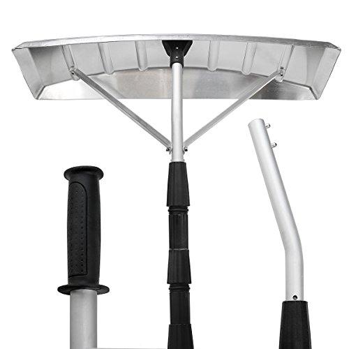 XtremepowerUS-21-Foot-Aluminum-Snow-Roof-Rake-with-25x6-Blade