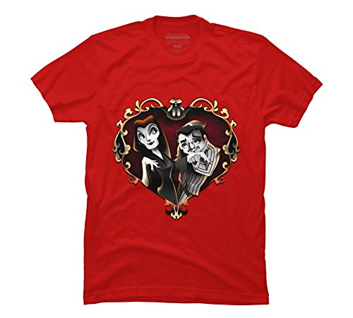 Design By Humans Cara Mia Mon Cher Men's 2X-Large Red Graphic T Shirt -