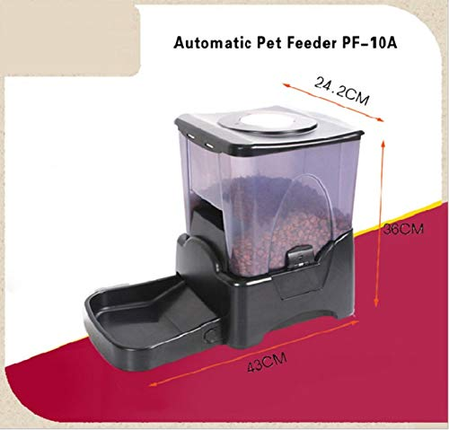 George zhang Smart pet Capacity Approx. 45 Cups (10.49 liters)/Timer/1-4 Meals/Day, 1-4 servo/Meal Black