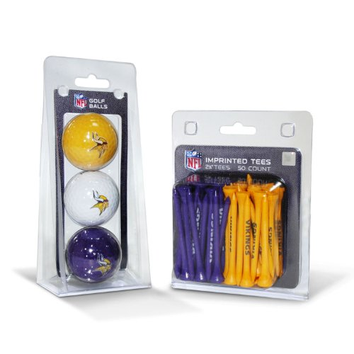 - Team Golf NFL Minnesota Vikings Logo Imprinted Golf Balls (3 Count) & 2-3/4