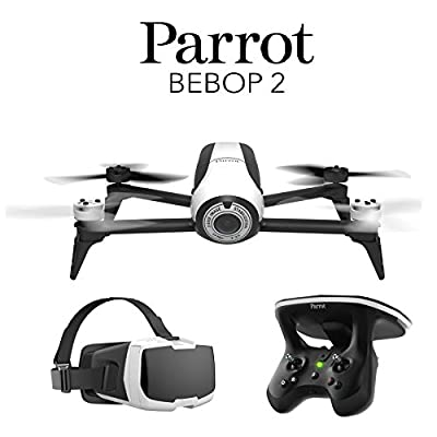 Parrot BeBop 2 Drone with Skycontroller 2 JoyStick & FPV Cockpit Glasses (White) from Parrot