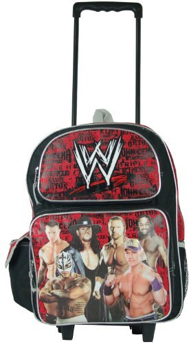 "FAB World Wrestling Entertainment 16"" Rolling Backpack Black"
