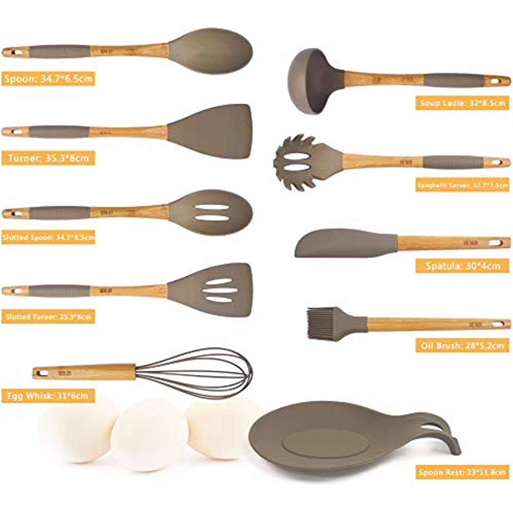 Utensil Sets Premium 9 1 Piece Xl Silicone Kitchen And