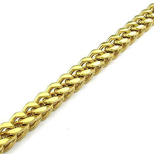 CLJSTORE Jewelry Mens Stainless Steel Bracelet Gold Biker Link